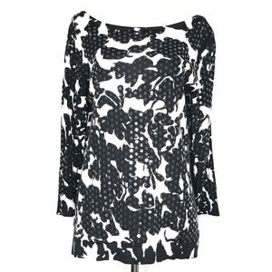 Carmen Marc Valvo Black Sequin Sweater A170624